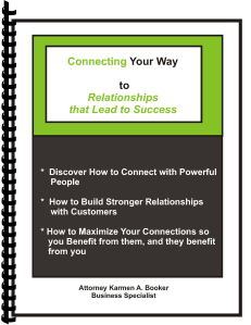 Connecting Your Way to Relationships Binded