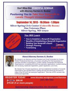 Nonprofit Seminar Promo